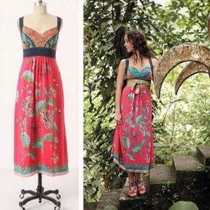 Anthro Edme & Esyllte Silk Maxi Equinox Dress 2